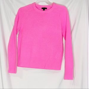 J. Crew bubble gum pink wool sweater size small